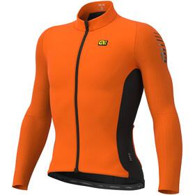 Alé Cycling Clima Protection 2.0 Warm Race Langarm Trikot Herren orange/schwarz